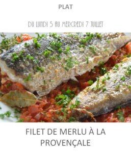 achat vente merlu à la provençale traiteur plat à emporter avignon barbentane saint rémy provence