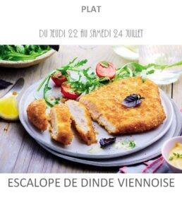 achat vente escalope de dinde viennoise traiteur plat à emporter avignon barbentane saint rémy provence
