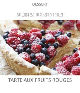 achat vente tarte aux fruits rouges traiteur plat à emporter avignon barbentane saint rémy provence