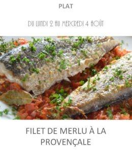 achat vente filet de merlu à la provençale traiteur plat à emporter avignon barbentane saint rémy provence