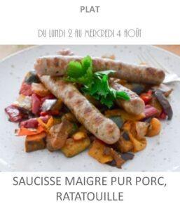 achat vente saucisse ratatouille traiteur plat à emporter avignon barbentane saint rémy provence