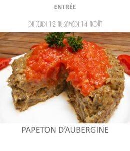 achat vente papeton d'aubergine traiteur plat à emporter avignon barbentane saint rémy provence