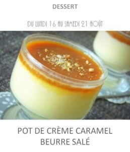achat vente crème caramel beurre salé traiteur plat à emporter avignon barbentane saint rémy provence